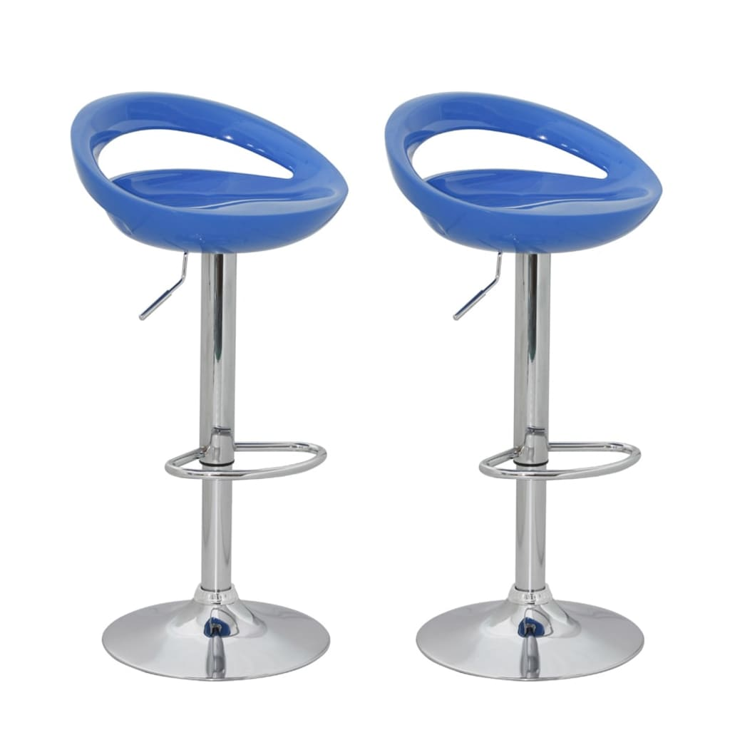 bar stool design blue abs plastic set of 2 modern design. Black Bedroom Furniture Sets. Home Design Ideas
