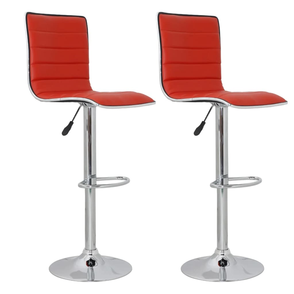 Der barhocker denver 2er set mit r ckenlehne rot online for Barhocker amazon