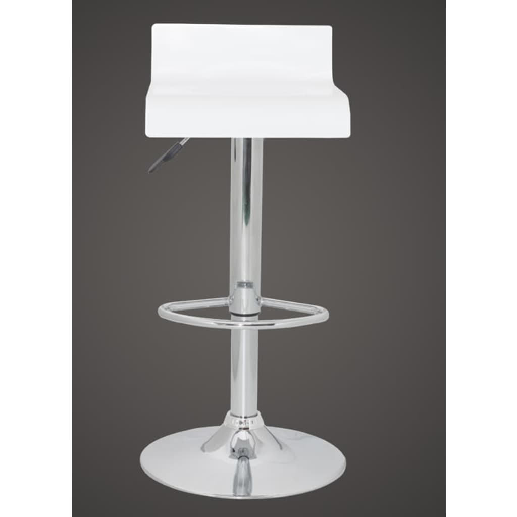 Very Impressive portraiture of vidaXL.co.uk Bar Stool Low Back White Wood (set of 2) with #515258 color and 1024x1024 pixels