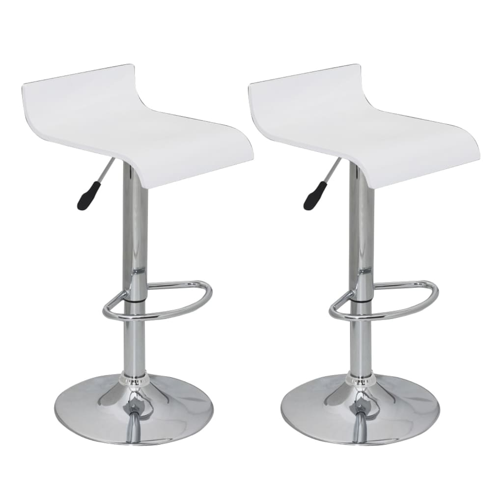 Very Impressive portraiture of vidaXL.co.uk Bar Stool Low Back White Wood (set of 2) with #535659 color and 1024x1024 pixels