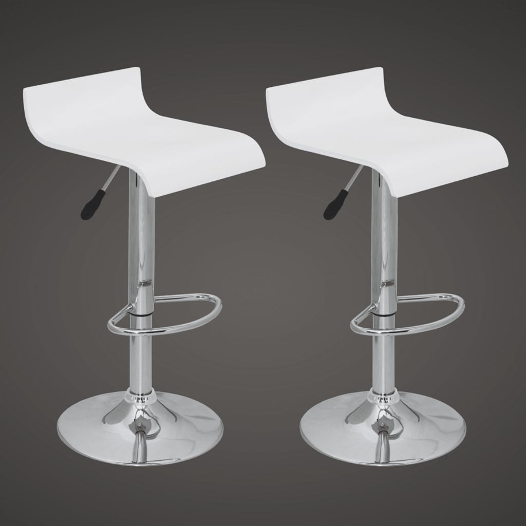 Very Impressive portraiture of vidaXL.co.uk Bar Stool Low Back White Wood (set of 2) with #515358 color and 1024x1024 pixels