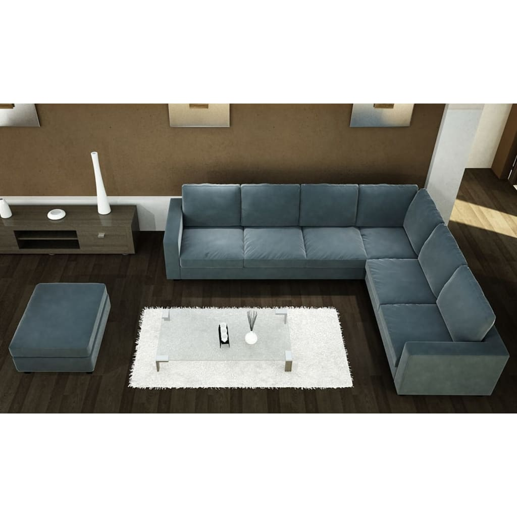 acheter canap angle microfibre bleu ardoise pas cher. Black Bedroom Furniture Sets. Home Design Ideas