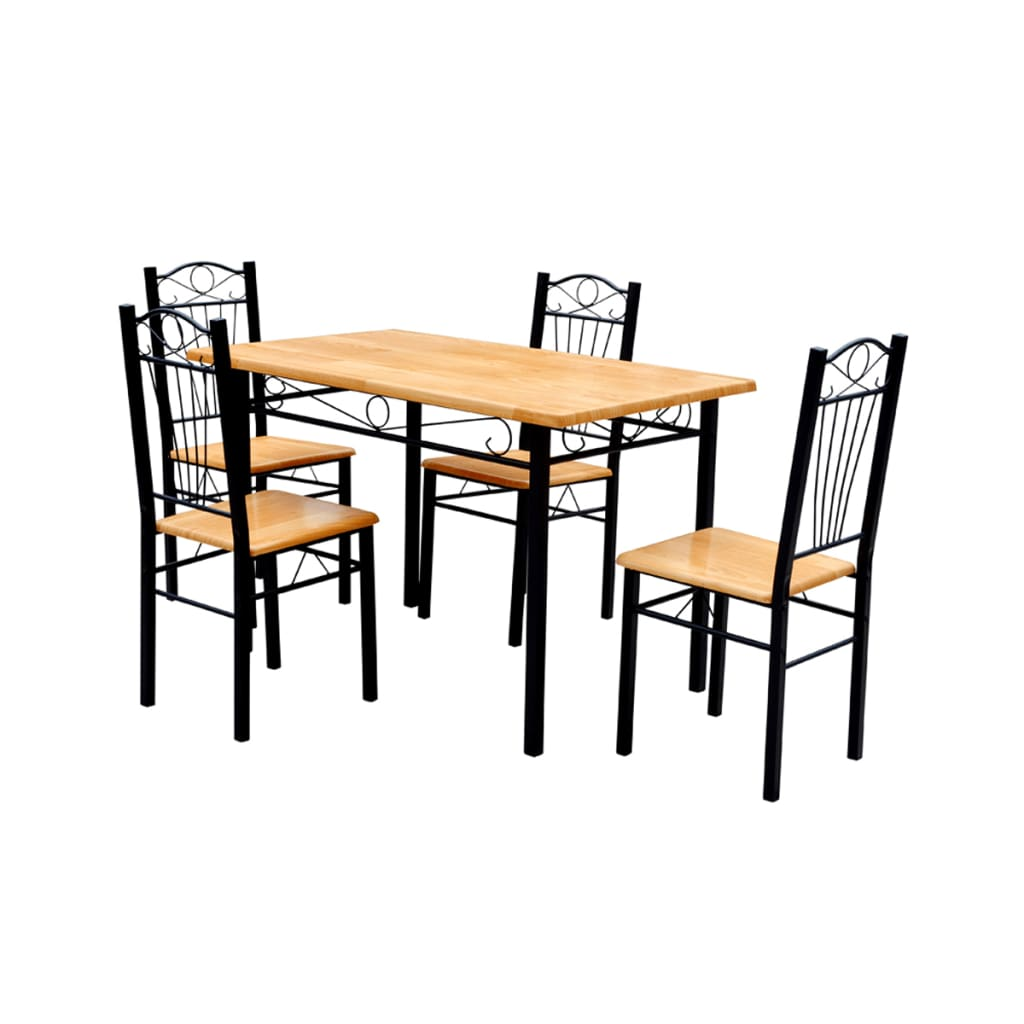 acheter table 4 chaises en mdf pas cher. Black Bedroom Furniture Sets. Home Design Ideas