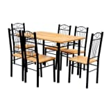 Dining Table and 6 Chairs - Light Wood