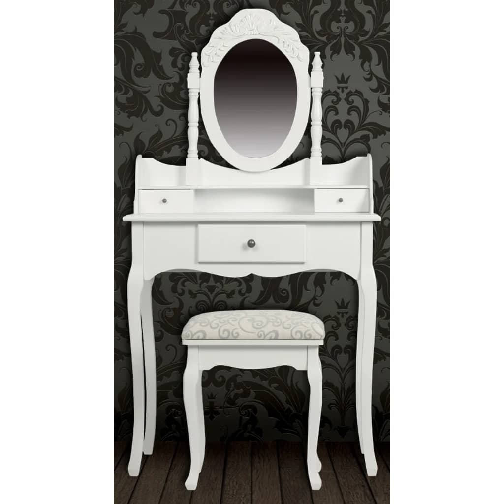 la boutique en ligne coiffeuse blanche si ge avec miroir. Black Bedroom Furniture Sets. Home Design Ideas