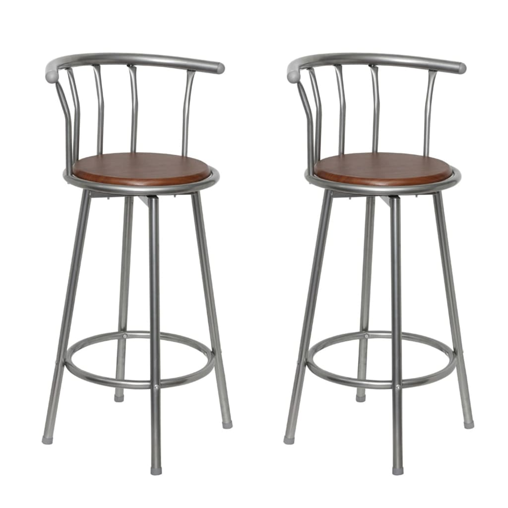 vidaXLcouk 2 pcs MDF Bar Stool Steel Frame : image from www.vidaxl.co.uk size 1024 x 1024 png 427kB