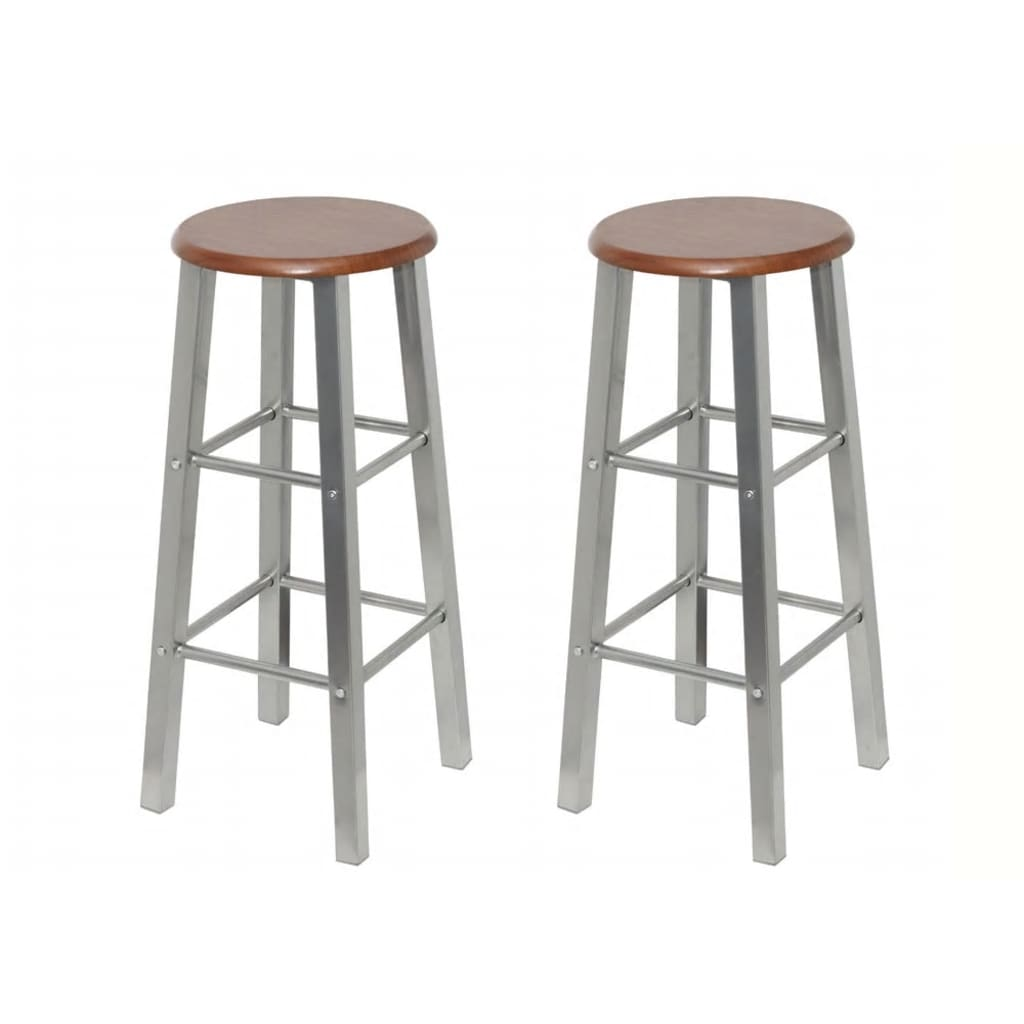 vidaXLcouk 2 MDF Bar Stools Metal Frame : image from www.vidaxl.co.uk size 1024 x 1024 png 297kB