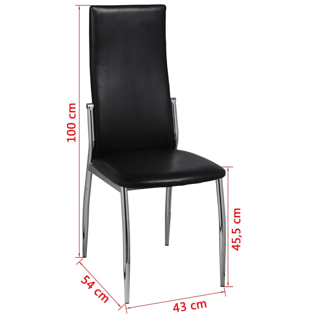 Articoli per sedie moderne cucina e pranzo 2 pelle e for Sedie nere moderne