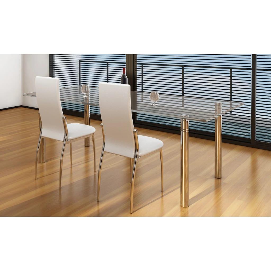 Articoli per vidaxl 2 pz sedie cromate per sala da pranzo - Sedie da sala da pranzo ...