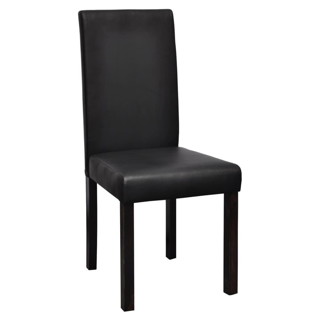 Articoli per vidaxl 4 pz sedie sala da pranzo in pelle for Sedie per pranzo