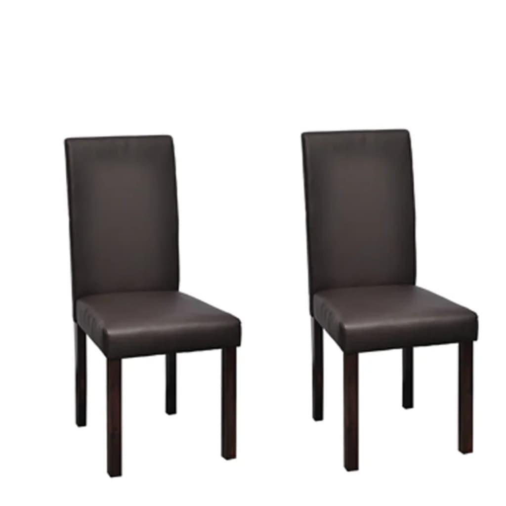 Acheter vidaxl chaises de salle manger 2 pcs marron for Acheter chaises salle a manger