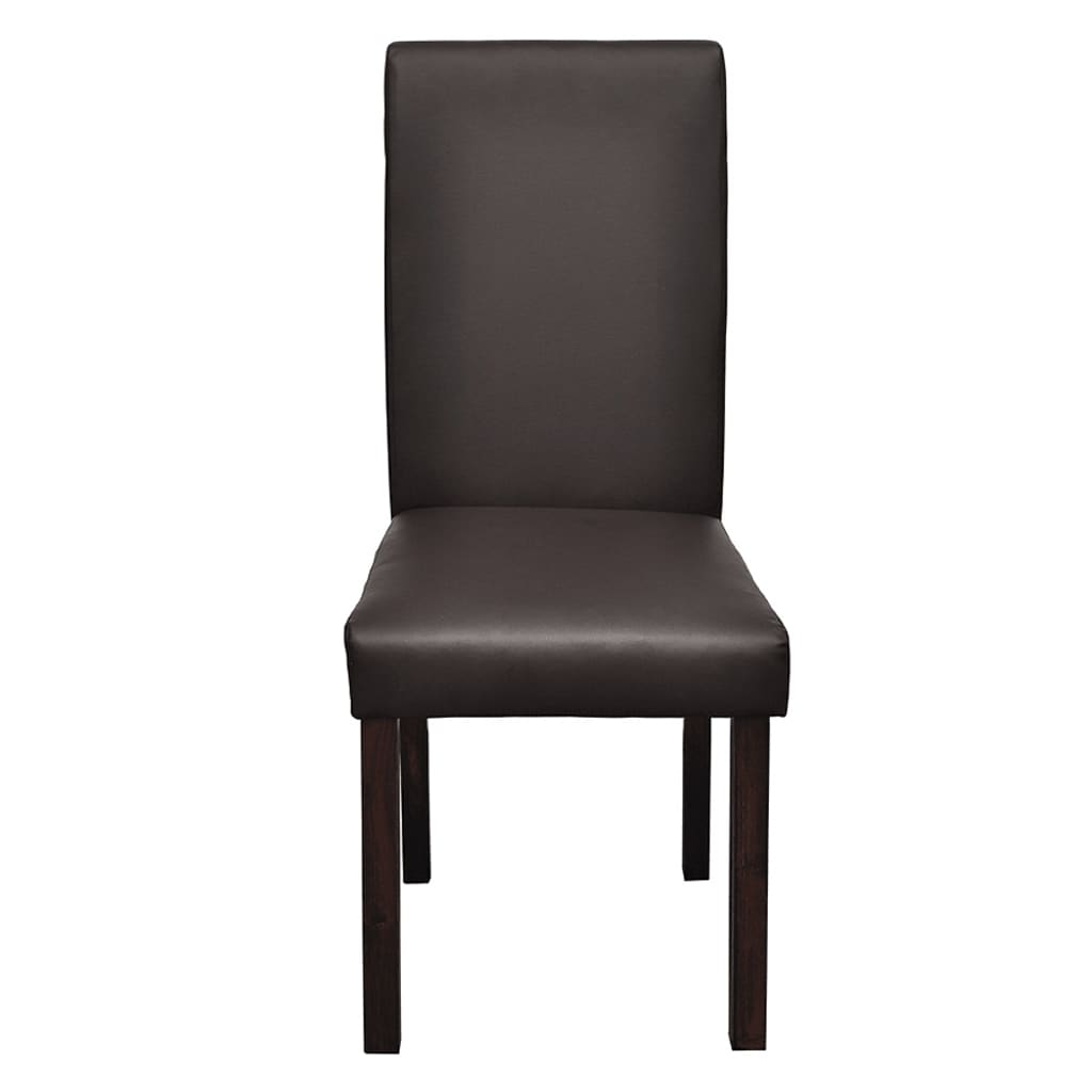 Conjunto 4 x cadeiras de jantar marrom www.vidaxl.pt #3B3433 1024x1024
