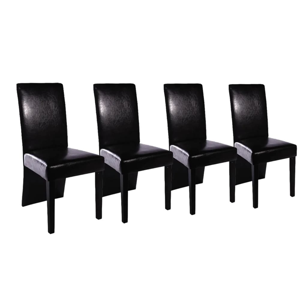 esszimmer st hle 4er set lange lehne schwarz. Black Bedroom Furniture Sets. Home Design Ideas