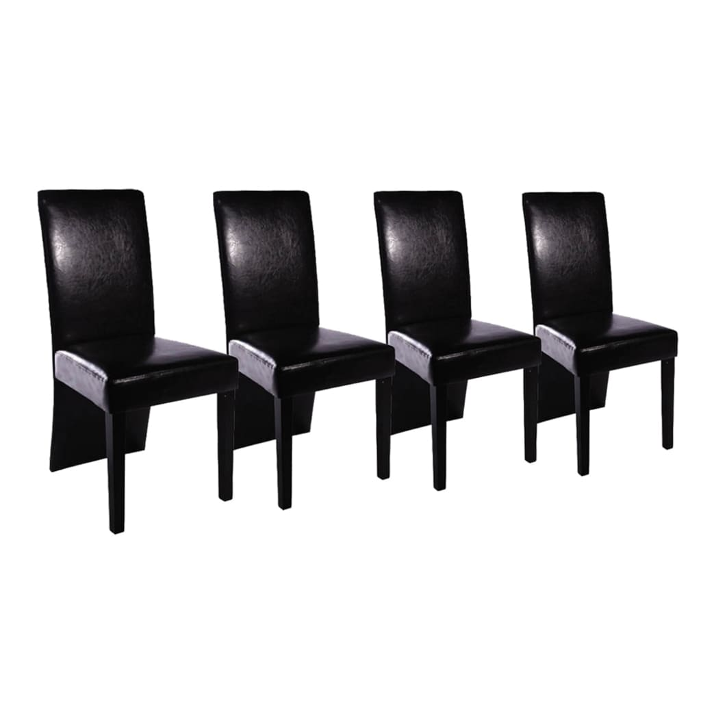 Acheter vidaxl chaises de salle manger 4 pcs noir pas for Acheter chaise salle manger pas cher