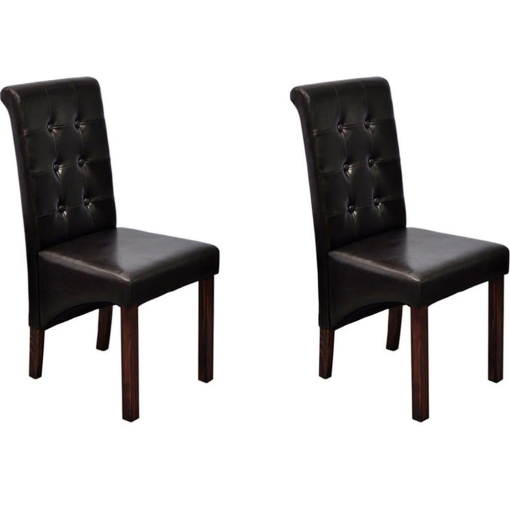 der esszimmer st hle klassik 2 stk braun online shop. Black Bedroom Furniture Sets. Home Design Ideas