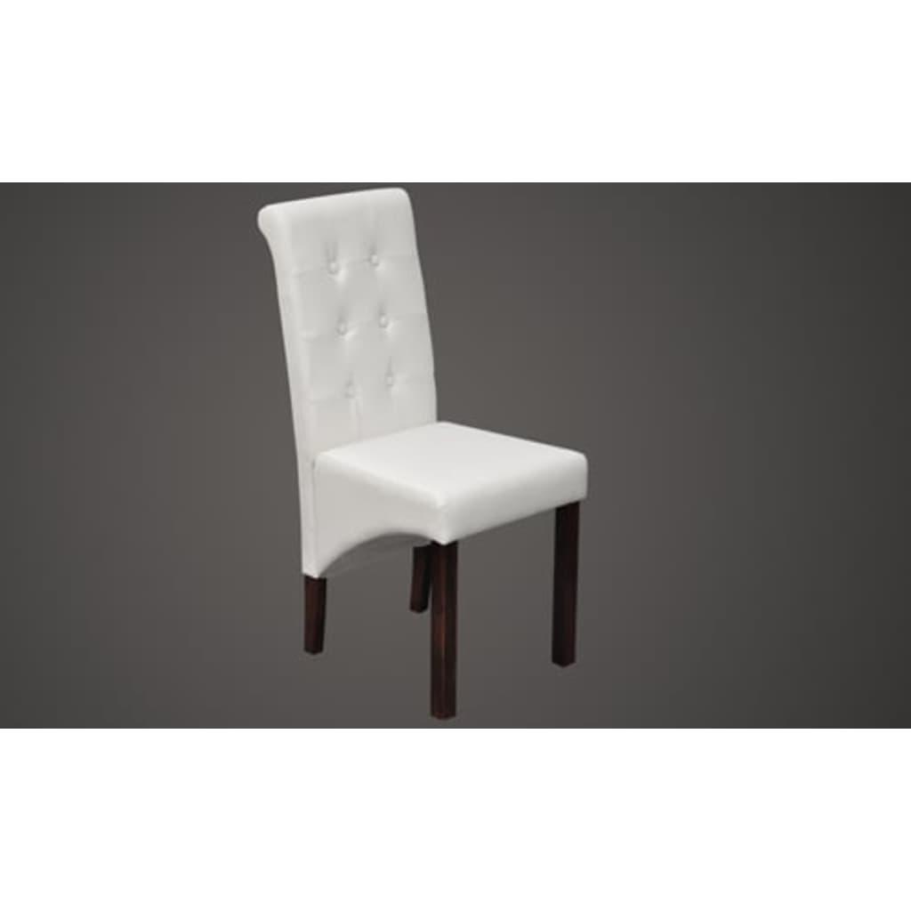 La boutique en ligne chaise capitonn e blanche lot de 2 for Chaise blanche solde