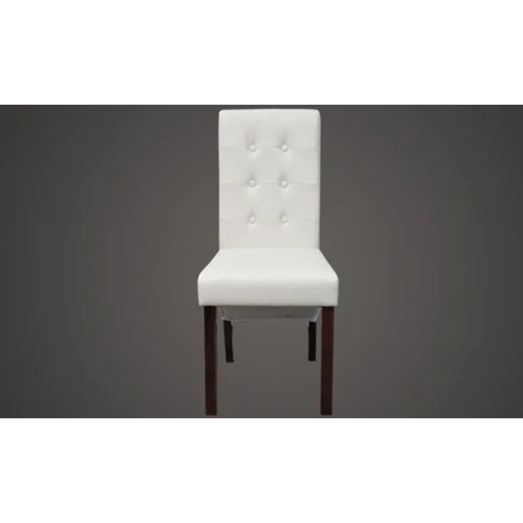 acheter chaise capitonn e blanche lot de 2 pas cher