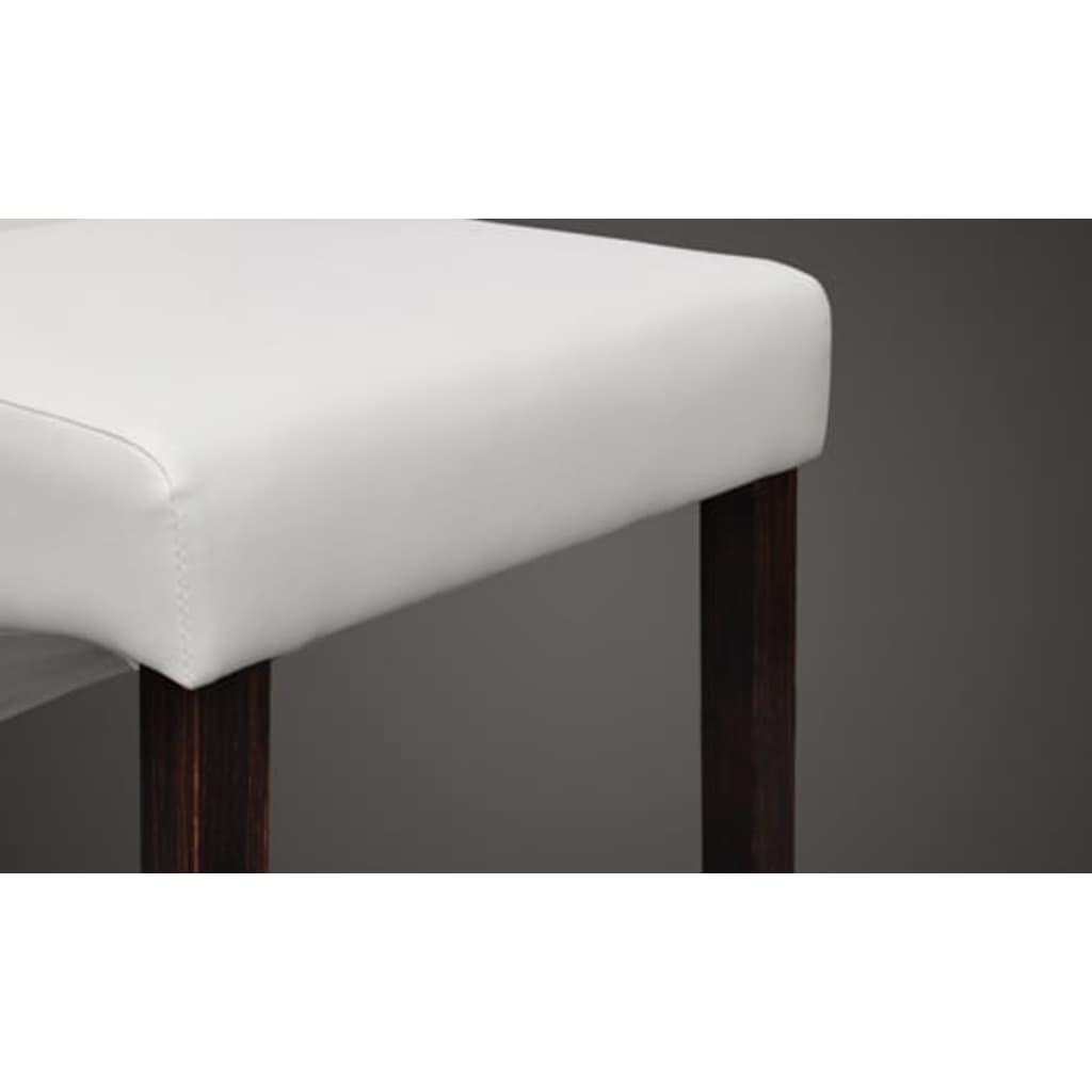 acheter chaise capitonn e blanche lot de 2 pas cher. Black Bedroom Furniture Sets. Home Design Ideas