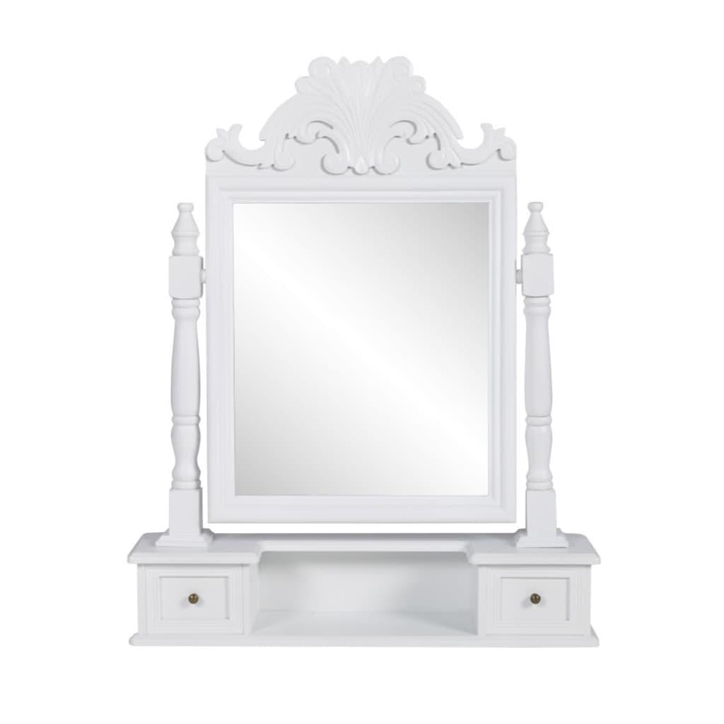 vidaXL MDF pipereasztal négyszögletes, dönthető tükörrel