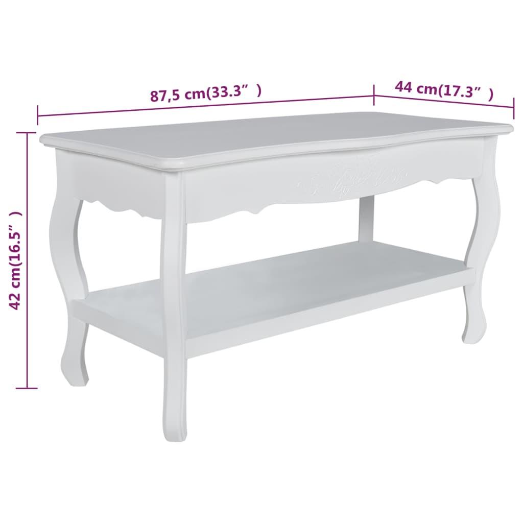 Articoli per Tavolino salotto tavolino rettangolare con 2 ripiani ...