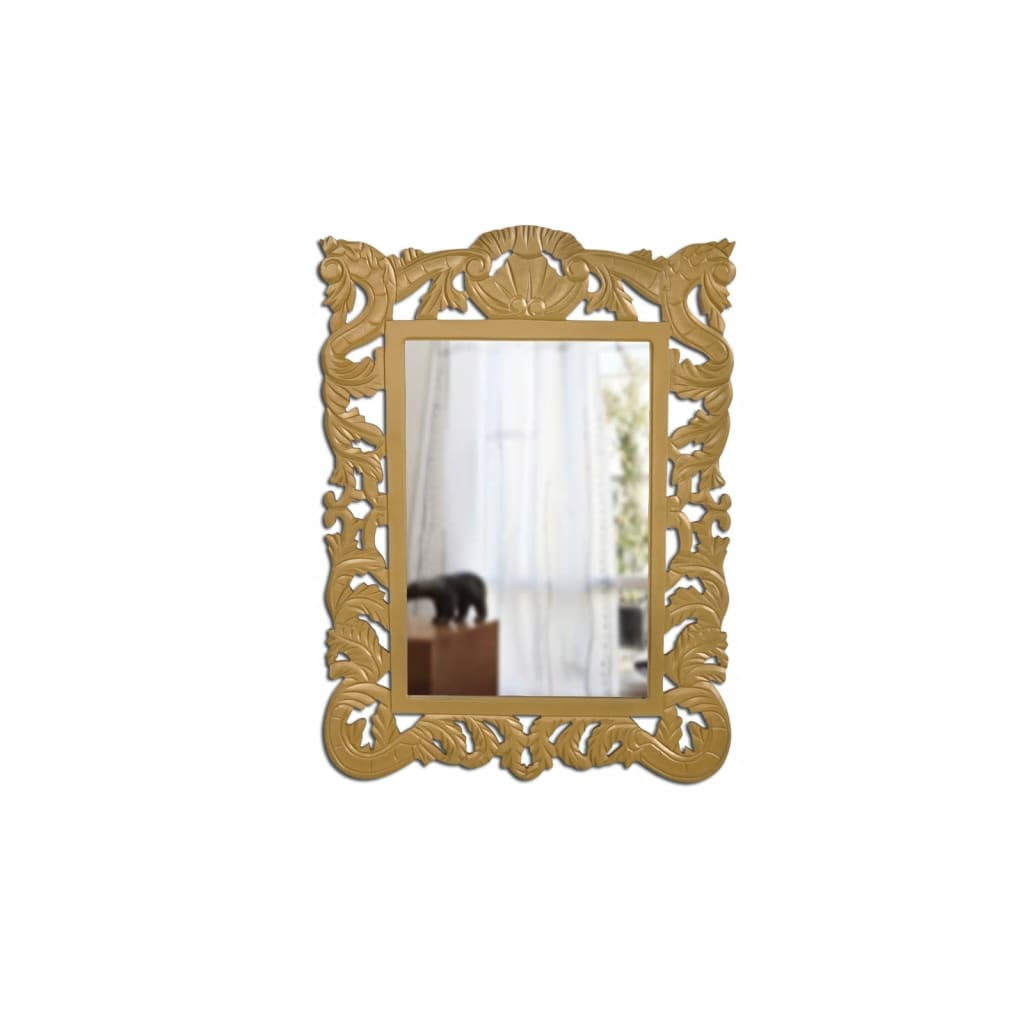 large baroque gold wall mirror