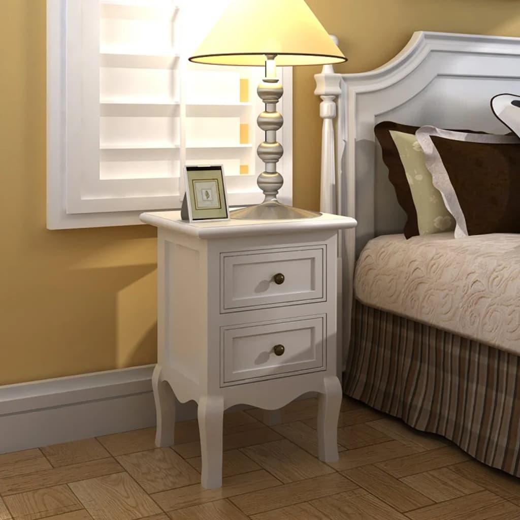 Sängbord i 2-pack Anastacia 35x30x49cm vit