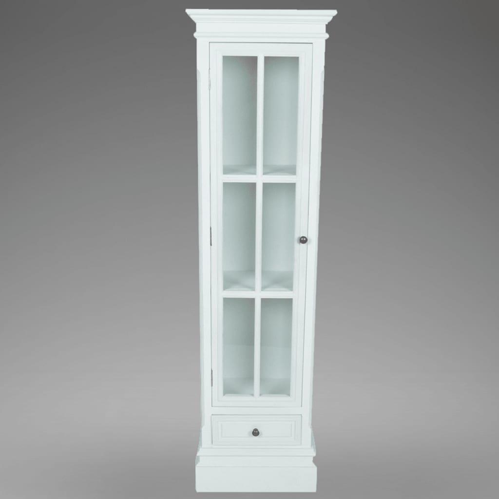 Elegante librer a armario blanco de madera con 3 estantes - Armario madera blanco ...