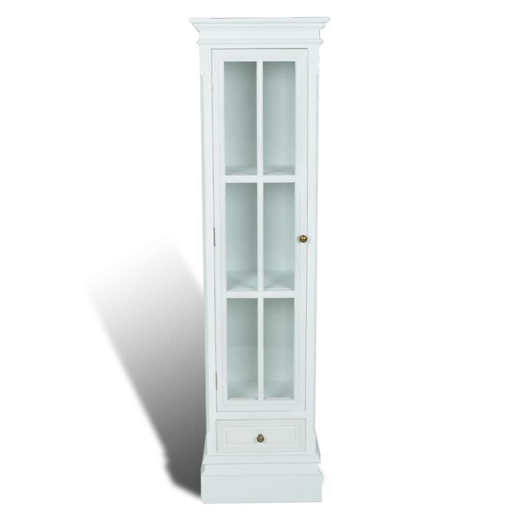 Wonderful image of vidaXL.co.uk White Shabby Wooden Chic Bookcase Cabinet 3 Shelves with #605030 color and 1024x1024 pixels
