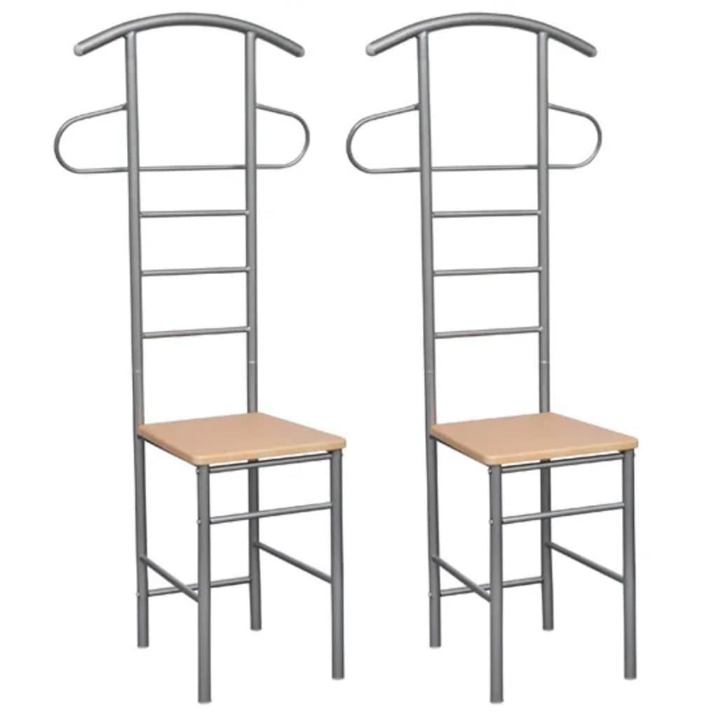 Acheter Chaise valet de nuit bois et métal design unique (lot de 2 ...
