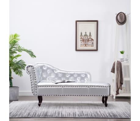 Chaise longue chesterfield prateado - Chesterfield chaise longue ...