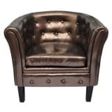 Chesterfield Leder Sessel bronze