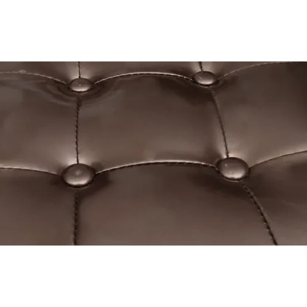 chesterfield leder sessel mit hocker bronze. Black Bedroom Furniture Sets. Home Design Ideas