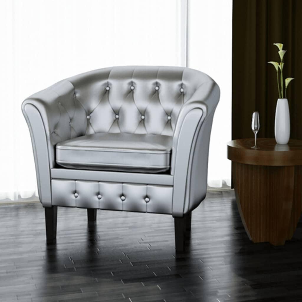 chesterfield leder sessel silber g nstig kaufen. Black Bedroom Furniture Sets. Home Design Ideas