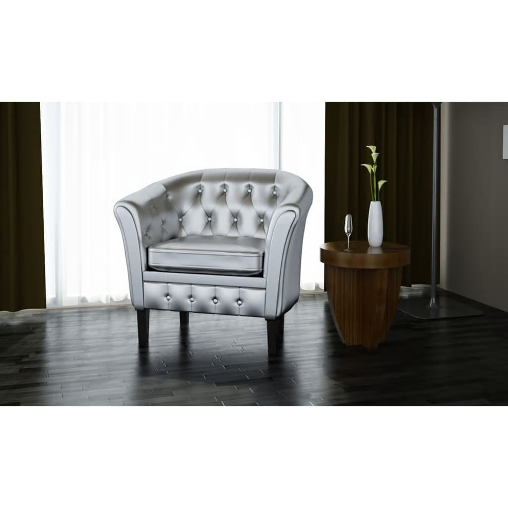 der chesterfield leder sessel silber online shop. Black Bedroom Furniture Sets. Home Design Ideas