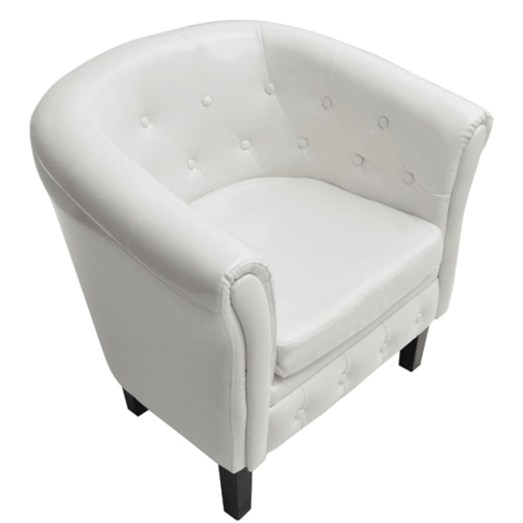acheter fauteuil chesterfield blanc pas cher. Black Bedroom Furniture Sets. Home Design Ideas