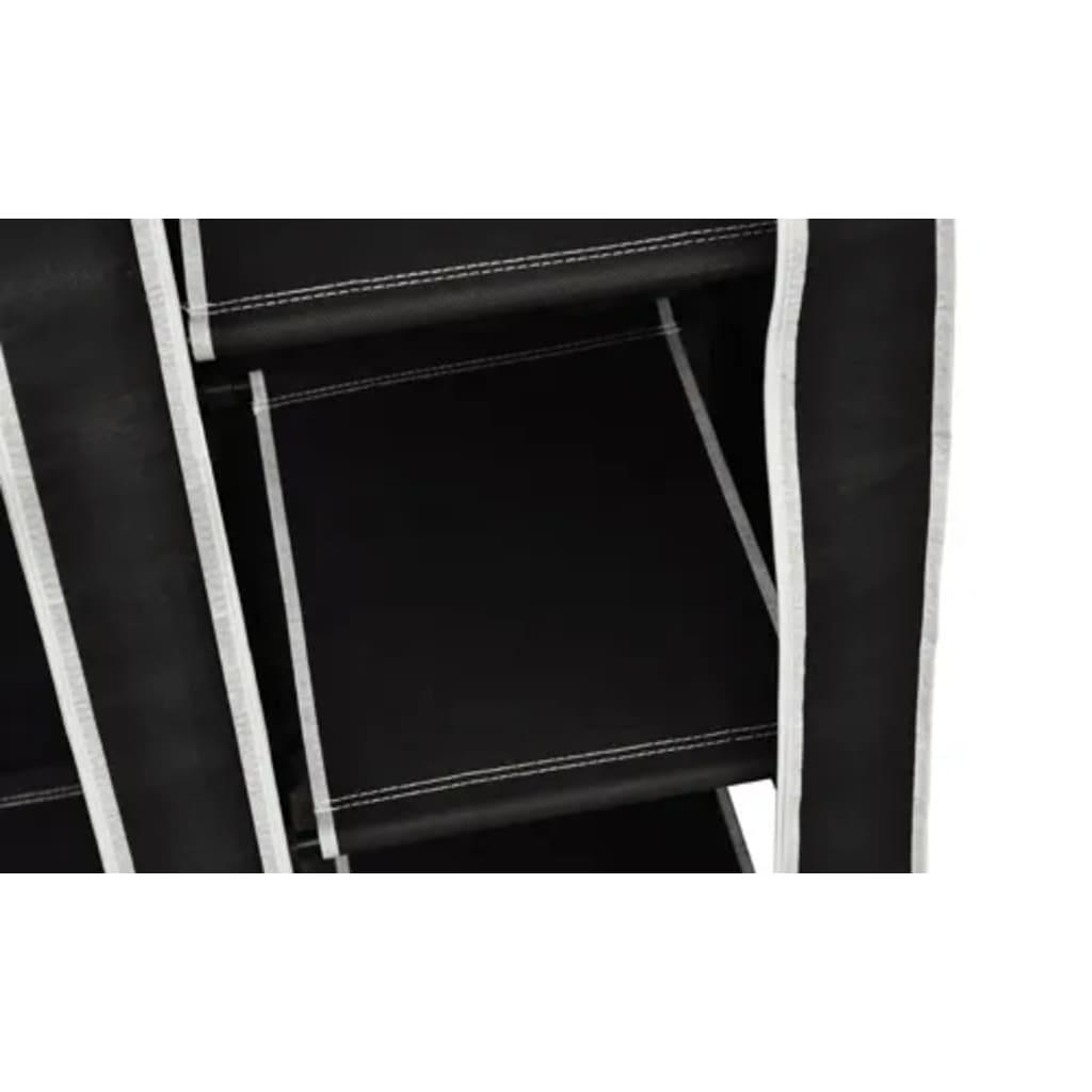 Armario de tela plegable negro tienda online - Armarios de tela ...