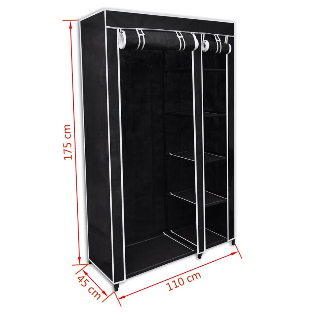 acheter armoire etag re de rangement noire pas cher. Black Bedroom Furniture Sets. Home Design Ideas