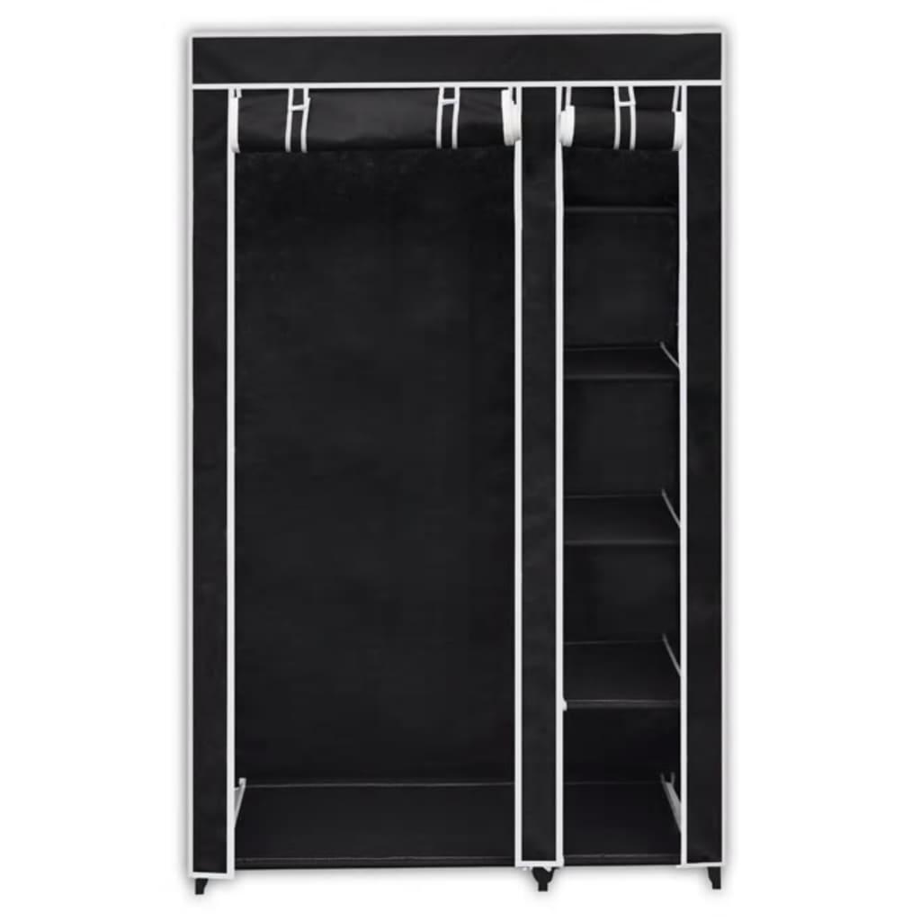 Armario de tela plegable negro 2 unidades tienda online - Armarios de tela ...