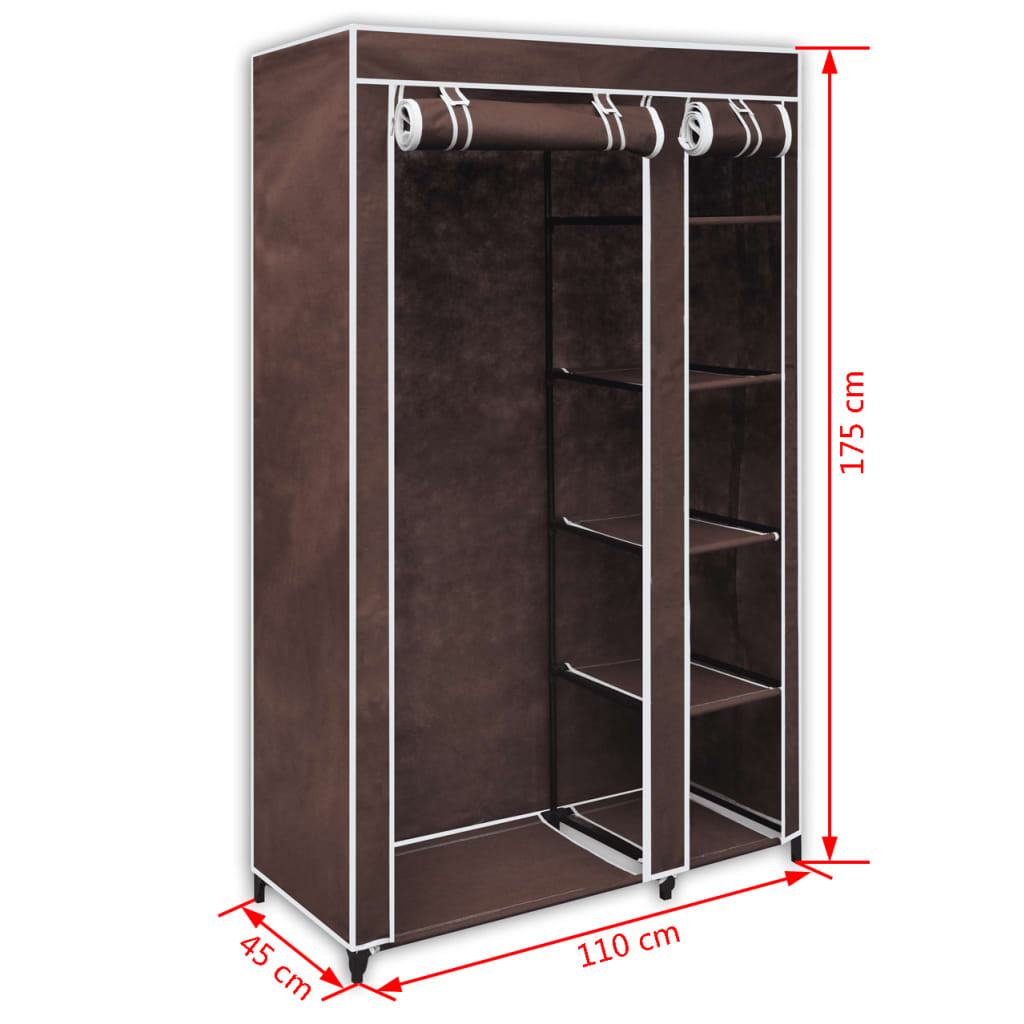 acheter armoire tag re de rangement marron chocolat pas. Black Bedroom Furniture Sets. Home Design Ideas