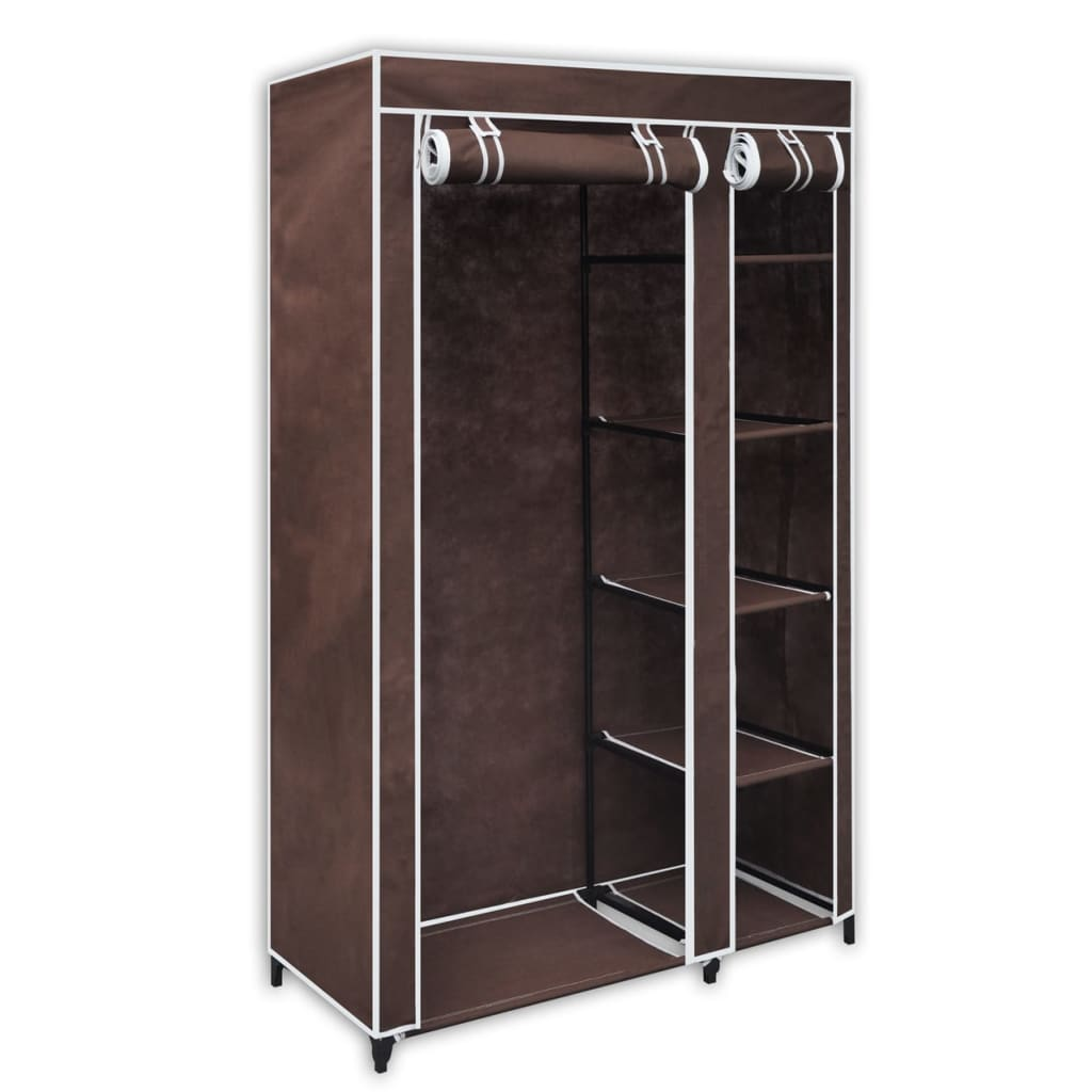 vidaXL Folding wardrobe brown