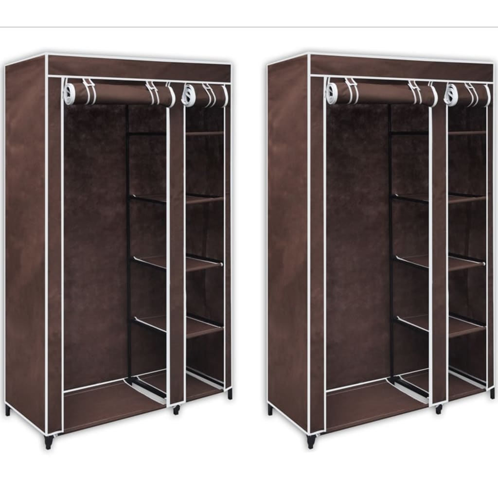 2 folding wardrobe brown. Black Bedroom Furniture Sets. Home Design Ideas