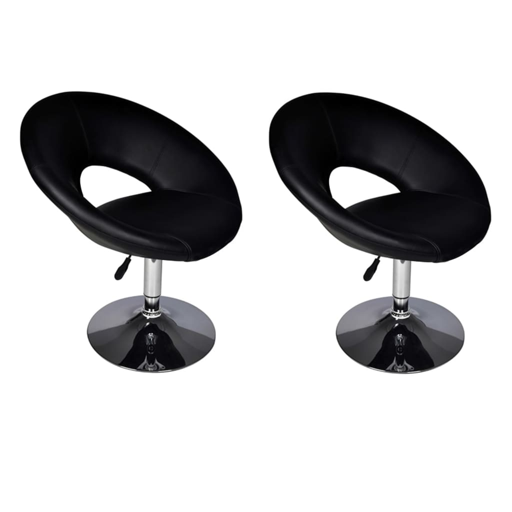 acheter vidaxl tabouret de bar 2 pcs noir pas cher. Black Bedroom Furniture Sets. Home Design Ideas