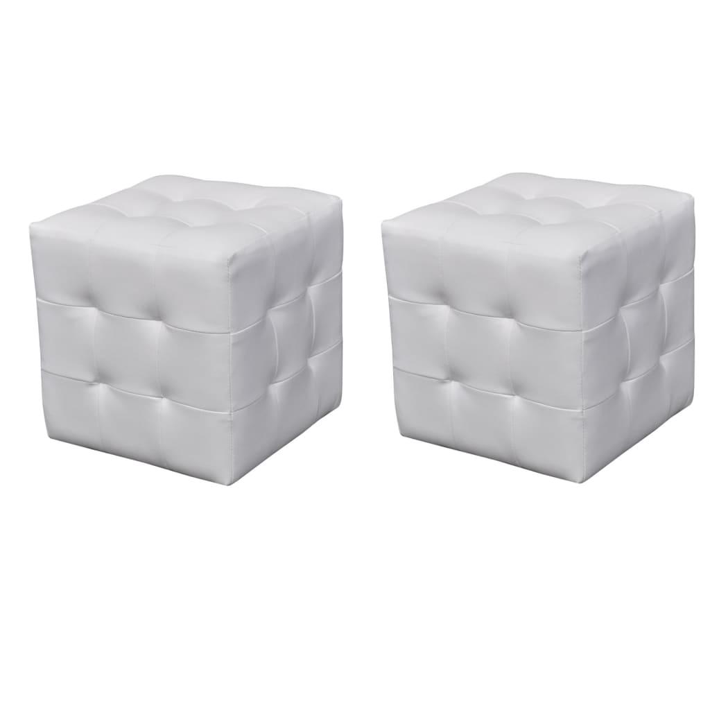 vidaXL 2 x kocka puff fehér