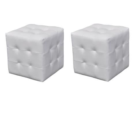 nachttisch sitzhocker 2er set 30x30x30 cm wei. Black Bedroom Furniture Sets. Home Design Ideas