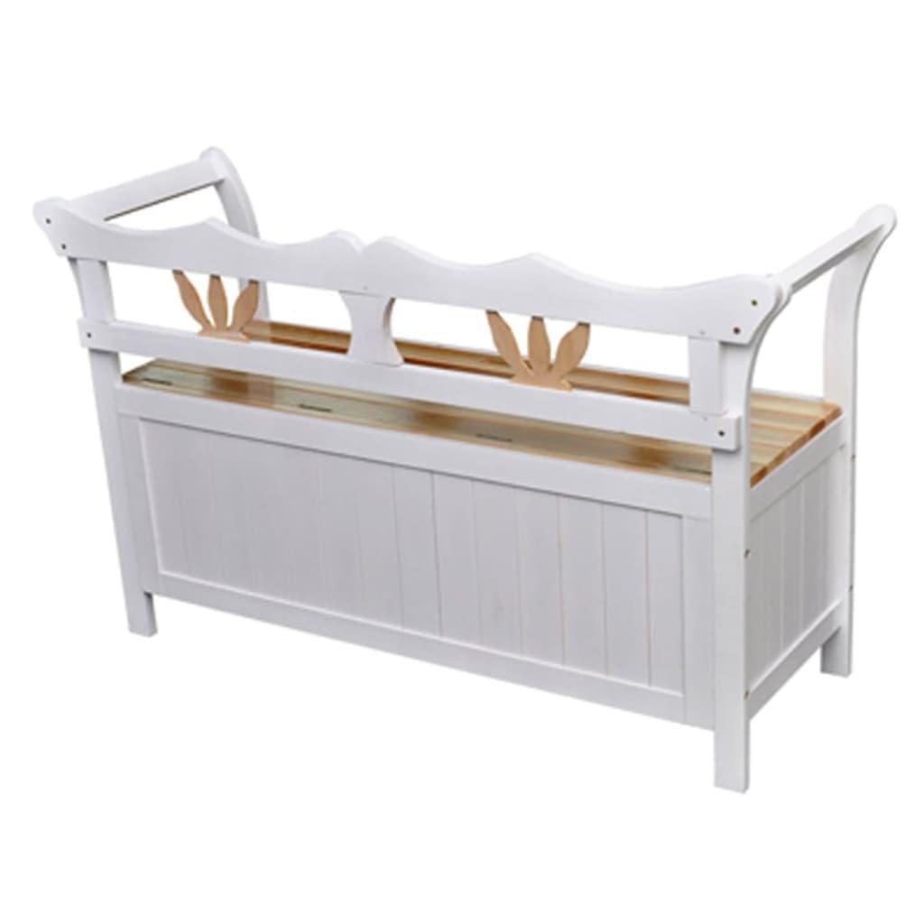 La boutique en ligne vidaxl banc de rangement 126x42x75 cm for Banc tv bois blanc