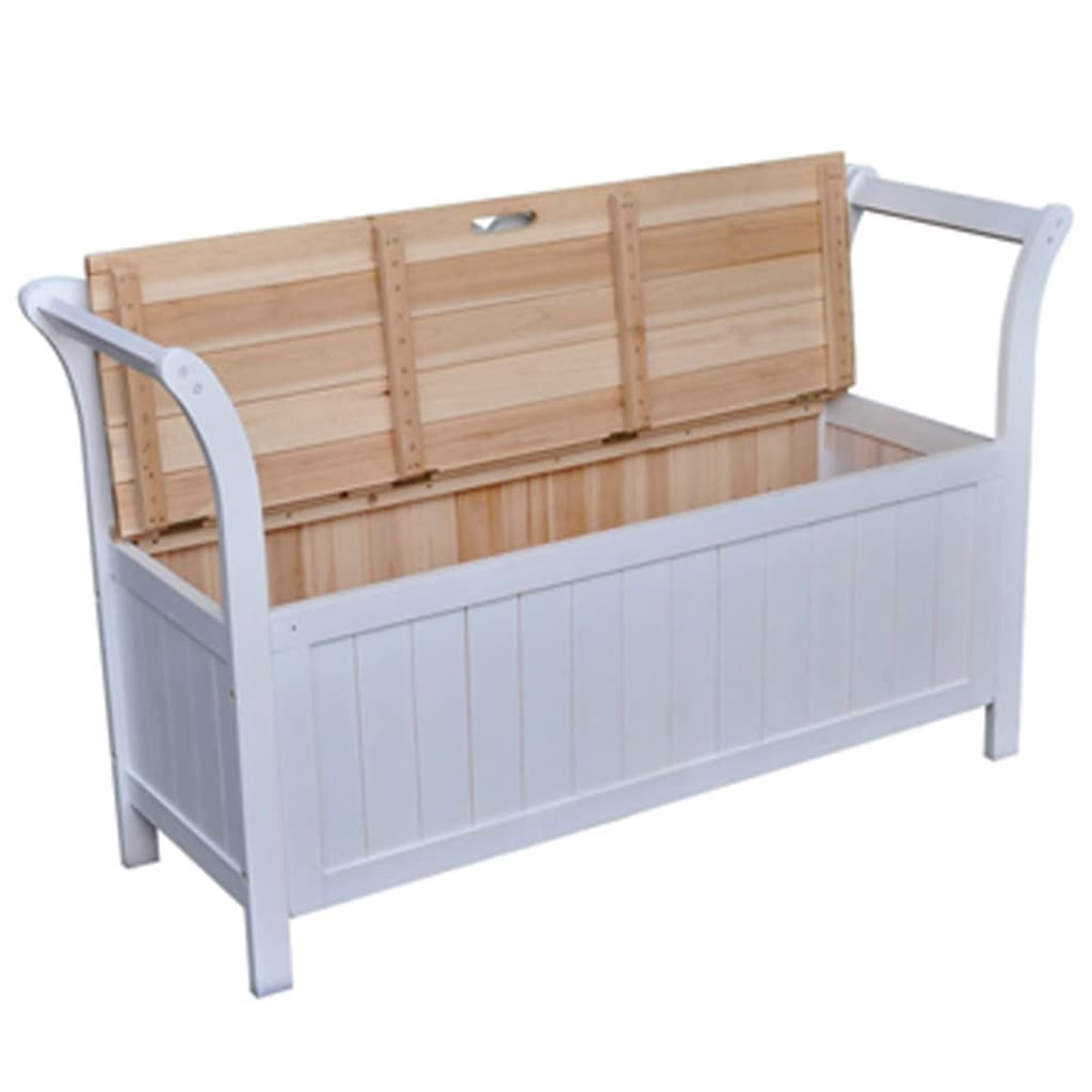 Vidaxl Storage Bench 126x42x75 Cm Wood White