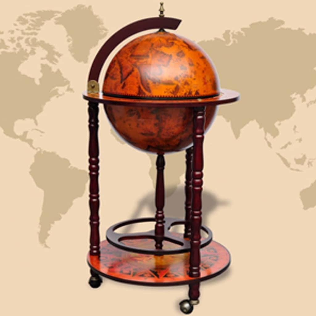 Globe-Bar-Minibar-Drinks-Cabinet-Beverage-Stand-Antique-Retro-Style-Wine