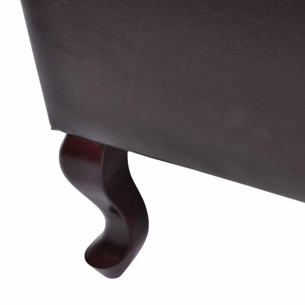 la boutique en ligne fauteuil chesterfield pouf brun antique. Black Bedroom Furniture Sets. Home Design Ideas