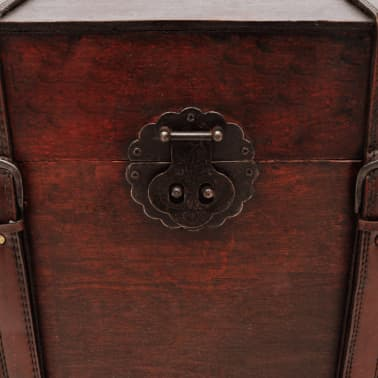 Vintage Large Wooden Treasure Chest[5/7]