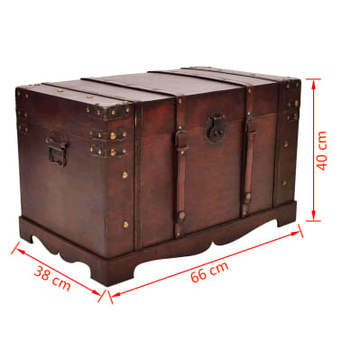 Vintage Large Wooden Treasure Chest[7/7]